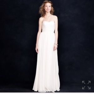 J. Crew Arrabelle Ivory Strapless Wedding Gown NWT